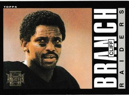 2001 Topps Archives Cliff Branch Football Trading Card #133 Los Angeles Raiders - $3.95