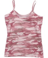 Womens Baby Pink Camouflage Military Slim Fit Cotton Tank Top - $9.99
