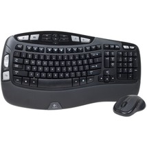 Logitech Wave MK550 Desktop Wireless Multimedia Keyboard & Laser Mouse K... - $809,83 MXN