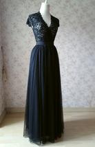 BLACK Long Maxi Tulle Skirt High Waisted Black Tulle Skirt Plus Size Black Skirt image 7
