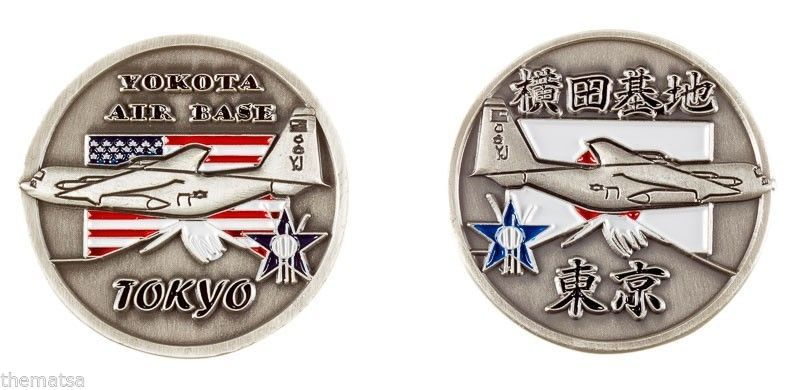 Primary image for AIR FORCE BASE YOKOTA  TOKYO JAPAN FLAG CHALLENGE COIN