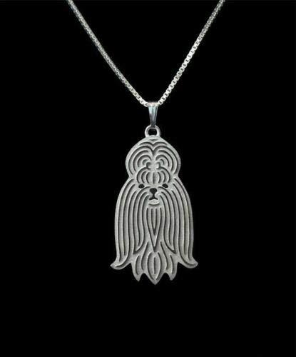 Primary image for Shih Tzu Silver Charm Pendant Necklace, Dog Lover, Friend Gift