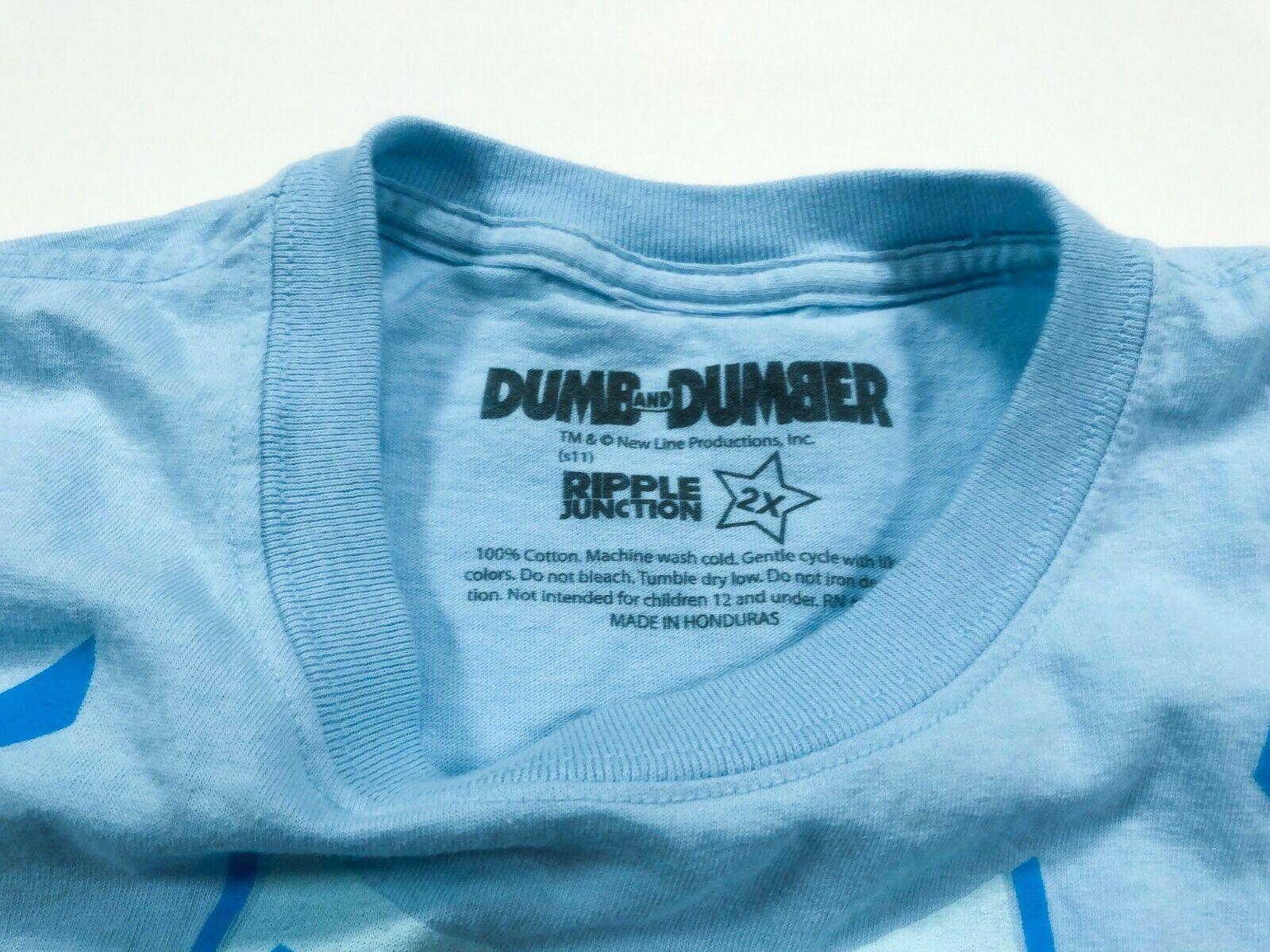 Dumb and Dumber Harry Blue Suit T-shirt 2XL Jeff Daniels Harry Dune XXL