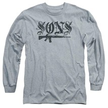 Sons of Anarchy American Crime TV series long sleeve graphic gray t-shirt SOA160 image 1