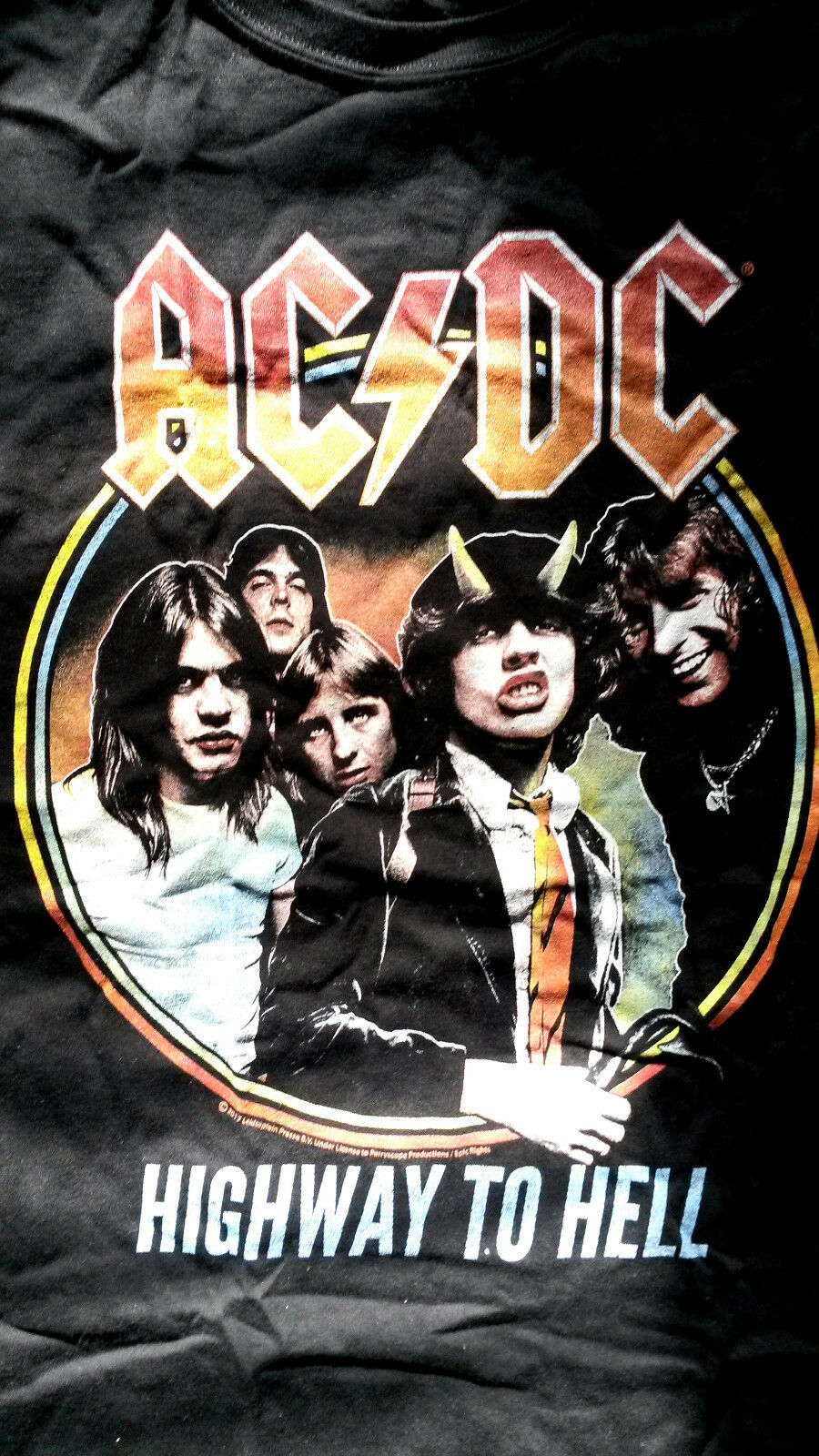 Primary image for AC/DC Highway to Hell Rock Band Music T-Shirt - Officially Licensed Genuine