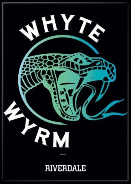 Primary image for Riverdale TV Series Whyte Wyrm Bar Serpent Logo Refrigerator Magnet Archie NEW