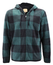 Men's Casual Flannel Zip Up Fleece Lined Plaid Sherpa Hoodie Lightweight Jacket image 5