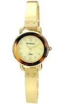 Armitron Ladies' Gold-Tone Bangle Tortoise Shell Bezel Watch - $21.73