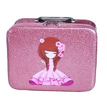 Cosmetics Case Makeup Train Case Cosmetics Organizer Beauty Case -Pink - $50.57