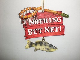 Nothing But Net Fishing Christmas Hanging Ornament Dangling Bass Fish Tassel x 3 - $13.51
