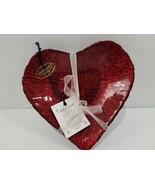 AKCAM Valentines Day GLITTER SHIMMERING Appetizer Dessert PLATES SET OF 4 - $24.74