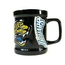 JACKSONVILLE JAGUARS EMBOSSED 3D NFL COFFEE MUG CUP RAISED LOGO - $19.79