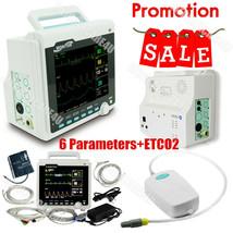 CMS6000 ETCO2 Capnograph Patient Monitor Vital Signs Monitor 6 Parameter... - $592.02