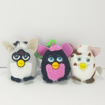 FURBY Tiger Electronics Lot of 3 McDonalds Plush Back Pack Clip Black Br... - $19.79