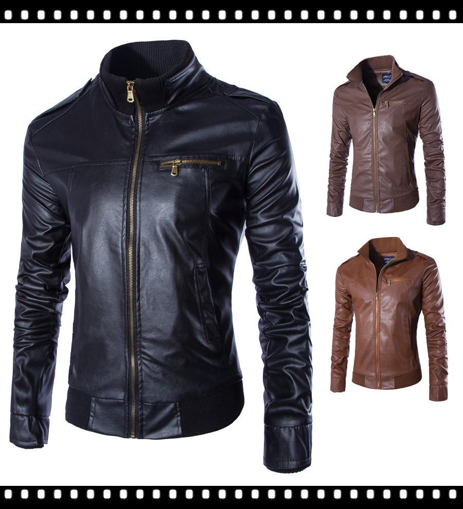 The Best Quality Uk Size XS-XL Leather Jacket Men Fashion Outwear For Men Chaque