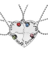 [Jewelry] Best Friend Forever Ever Puzzle Heart Necklace for Friendship ... - $8.99