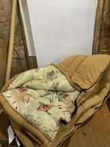 Vintage Coleman Tan Sleeping Bag, Flannel Lining (Ducks), Great Condition - $130.14