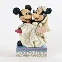 "6.5"" ""Congratulations"" Mickey & Minnie Wedding - Jim Shore Disney Traditions NEW"