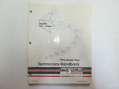 1994 Force Outboards Technicians Handbook Manual WATER DAMAGED WORN OEM