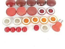 LOT OF 24 ASSORTED PUSHBUTTON HEADS / CAPS image 3