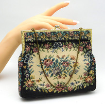 "Vintage ""PRINCESS"" Needlepoint Tapestry Purse Handbag On Chain Made In G... - $24.95"