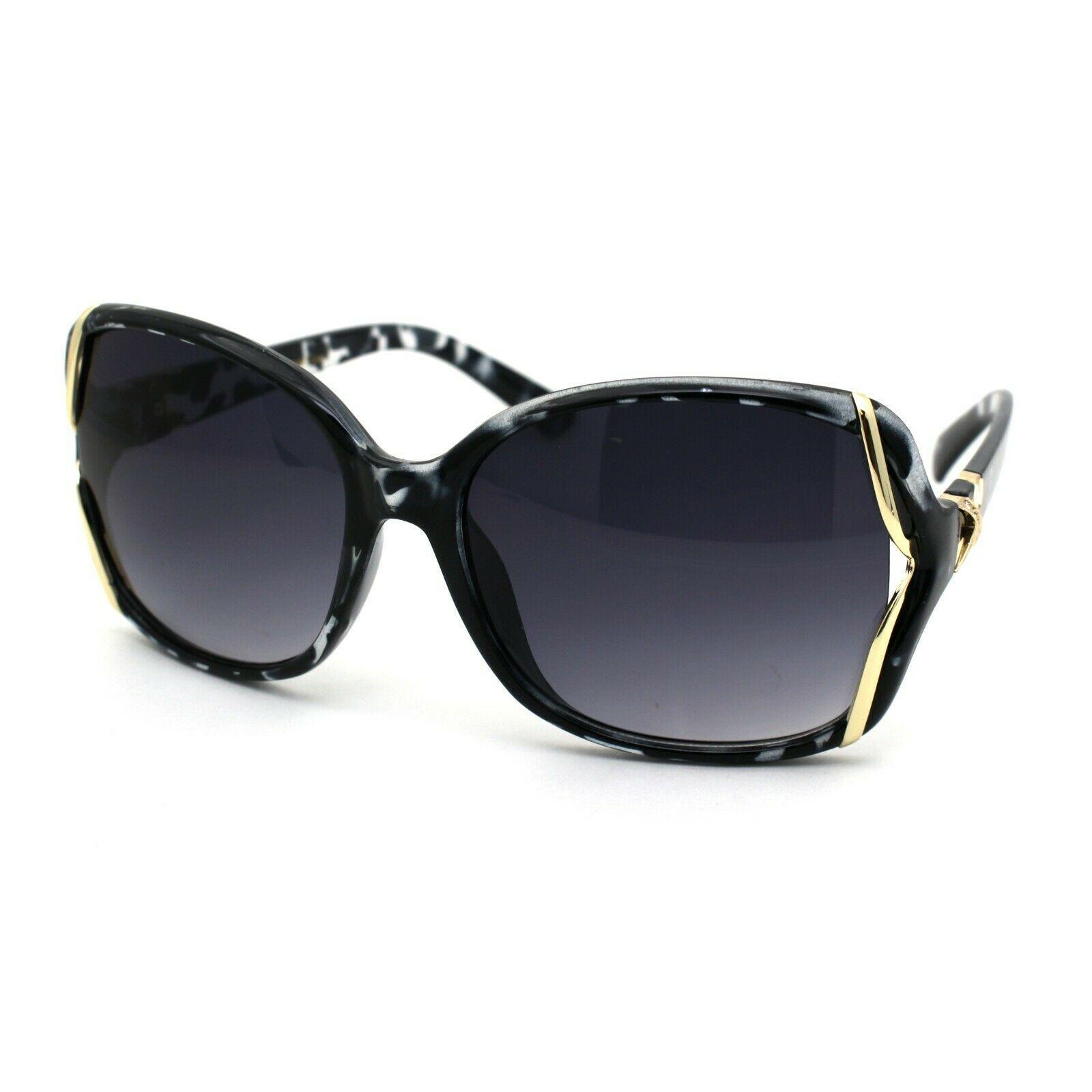 Womens Rhinestone Butterfly Designer Fashion Plastic Sunglasses