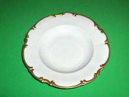 Vintage Hutschenreuther Brighton China  Rimmed Soup Bowl  Gold Trim NICE - $34.65