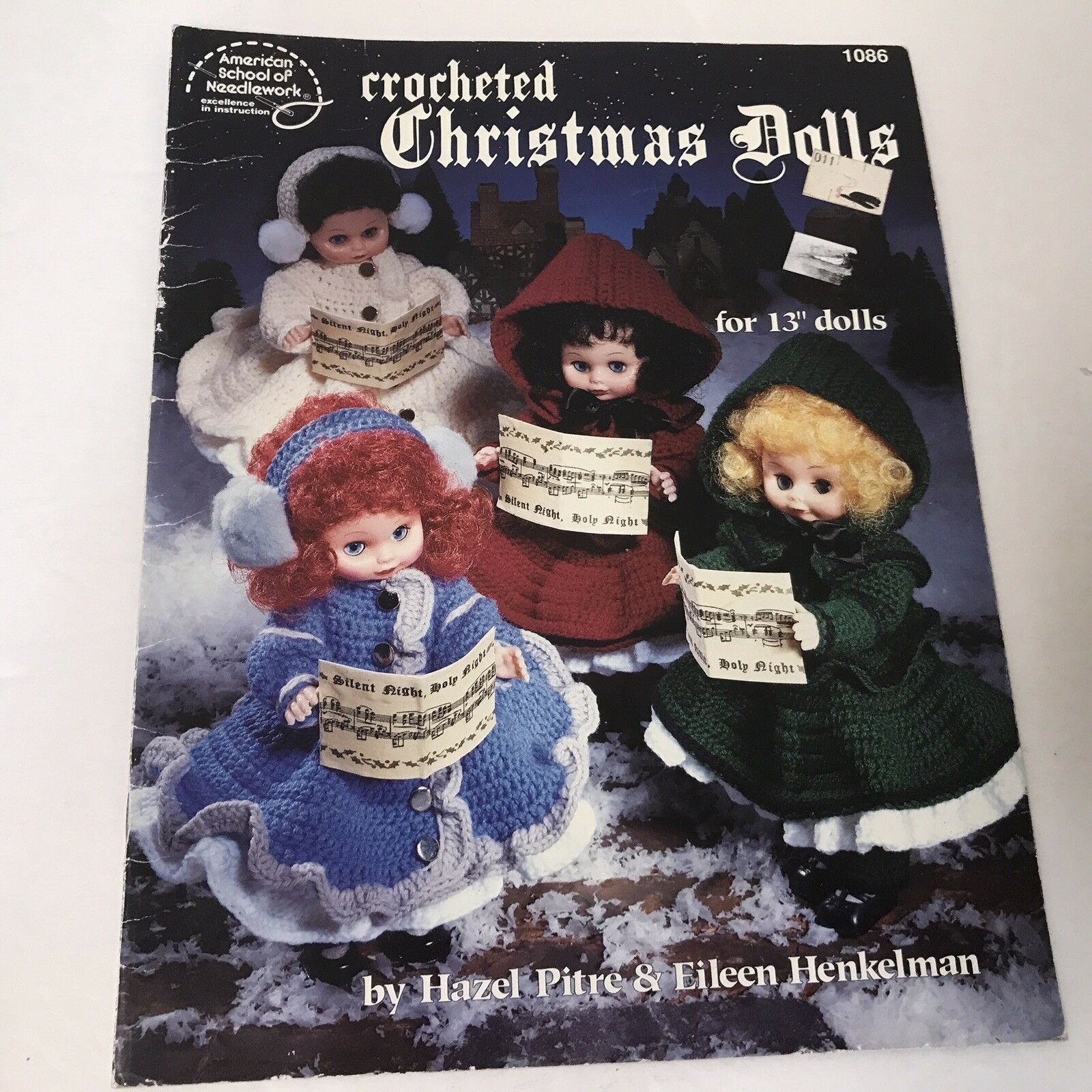 Primary image for Crocheted Christmas Dolls Vtg 1990 Booklet 1086 American School Of Needlework