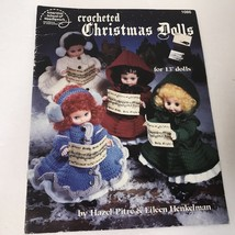 Crocheted Christmas Dolls Vtg 1990 Booklet 1086 American School Of Needl... - $9.89