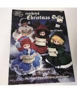 Crocheted Christmas Dolls Vtg 1990 Booklet 1086 American School Of Needl... - $9.89