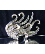Vintage Boucher Silver Tone Leaf Seaweed Brooch Signed Numbered 1960's - $27.00