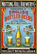 Notting Hill Brewery, English Beers, Pub Bar & Restaurant, Medium Metal ... - $10.74