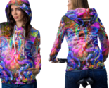 Psychedelic face trippy tongue dmt hoodie women thumb155 crop