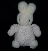 """10"""" VINTAGE 1994 BEACHWOOD BUNCH BABY WHITE BUNNY RABBIT STUFFED ANIMAL ... - $23.38"""