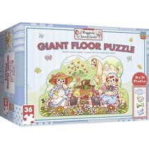 Raggedy Ann & Andy Giant Floor Puzzle 60 Piece by Masterpieces Puzzles #... - $29.99
