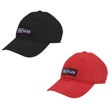 Tommy Hilfiger Men's Baseball Hat Rubber Logo Casual Sport Cap 69JI458 001