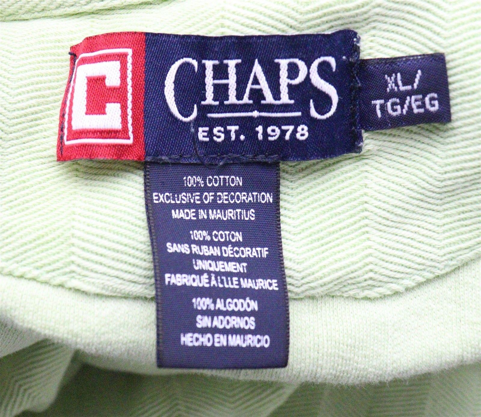 Ralph Lauren Chaps Mens Green Polo Shirt Size XL