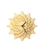Wooden wall clock made of natural plywood with geometric pattern - Cogwheel - $89.00