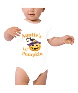 White , Auntie's Lil Pumpkin Baby  One Piece Bodysuit - Can Be Personalized - $24.95