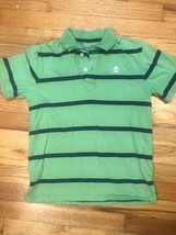 Gap Kids Boys Childrens Polo Shirt Short Sleeved Size M 8 Green Blue Striped - $4.00
