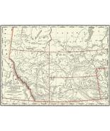 Alberta, Assinibola, Athabasca & Saskatchewan - 1901 - Railroad Map Poster - $9.99+