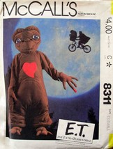 Vintage McCall's Pattern 8311 E.T. Costume Child's Size 2-4 Uncut Comple... - $23.70