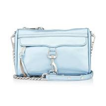 Rebecca Minkoff Mini MAC Metallic Grey Sky Leather Crossbody Convertible Bag - $143.06