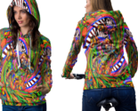 Psychedelic molekul magic mushroom trippy tongue dmt hoodie women thumb155 crop