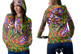 Psychedelic Molekul Magic Mushroom Trippy Tongue DMT Hoodie Women - $44.99