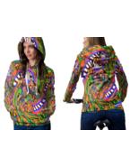 Psychedelic Molekul Magic Mushroom Trippy Tongue DMT Hoodie Women - $44.99