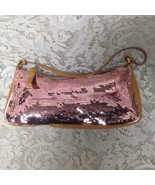 Miu Miu Pink Sequins and Yellow Leather Evening Bag 10in x 4.5in x 2in - $118.70