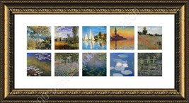 FRAMED Poster Collage 10 Wild Poppies Water Lilies Sinfonia Claude Monet - $78.90+