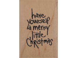 Stampendous Little Christmas Wood Mounted Rubber Stamp #J194 image 1