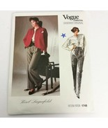 Vogue 1748 Karl Lagerfeld Size 8 Pants Top Jacket Designer Original New ... - $19.99
